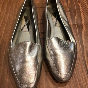 Booty tutti silver leather loafer